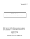 Form FDA 3636 - Annual Reports on Radiation Safety Testing of Laser and Laser Light Show Guide