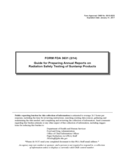 Form FDA 3631 - Annual Reports on Radiation Safety Testing of Sunlamp Products Guide