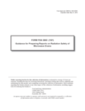 Form FDA 3660 - Guidance for Preparing Reports on Radiation Safety of Microwave Ovens