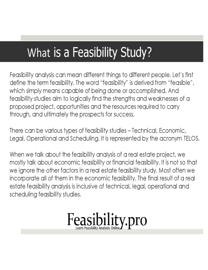 full feasibility analysis Feasibility studies can help you to determine whether or not you should proceed with your project knowing the different types of feasibility studies can help you and.