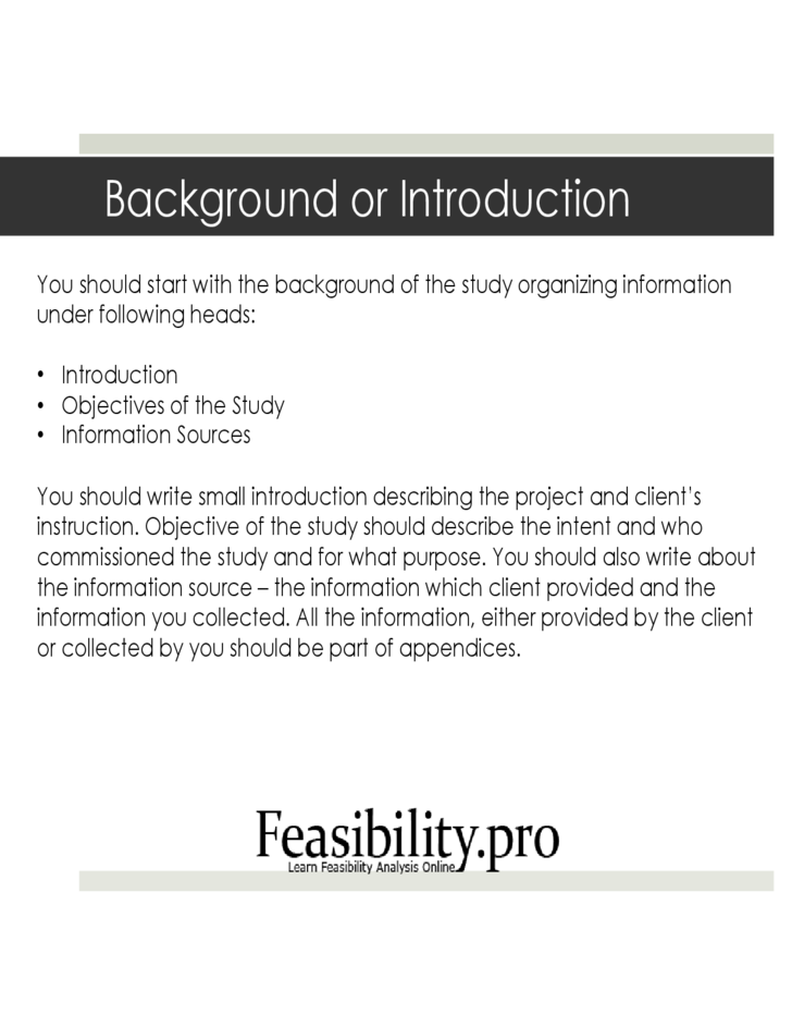 feasibility study template free download With feasibility study template free download