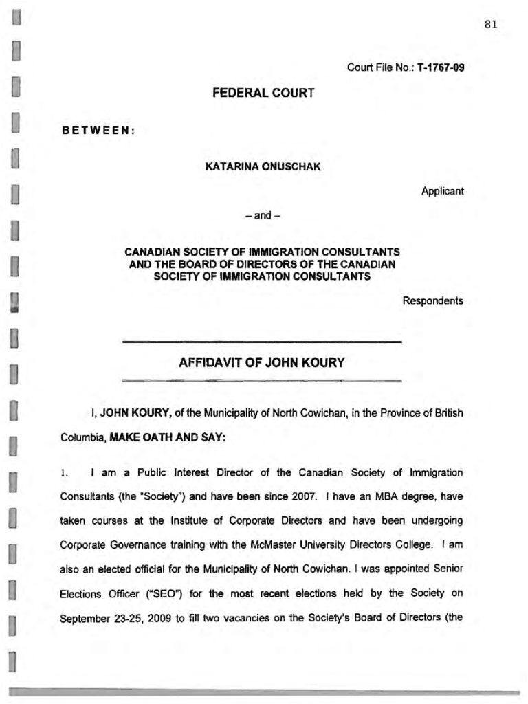 Federal Court Affidavit 6 Free Templates In Pdf Word
