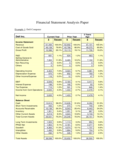 Financial Statement Analysis Paper Free Download