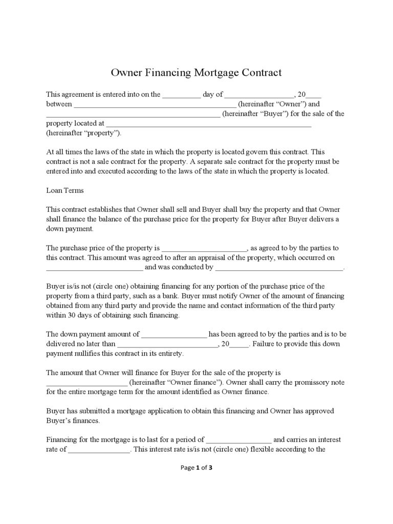 how to write a financial contract
