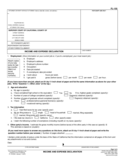 Income and Expense Declaration - California Free Download