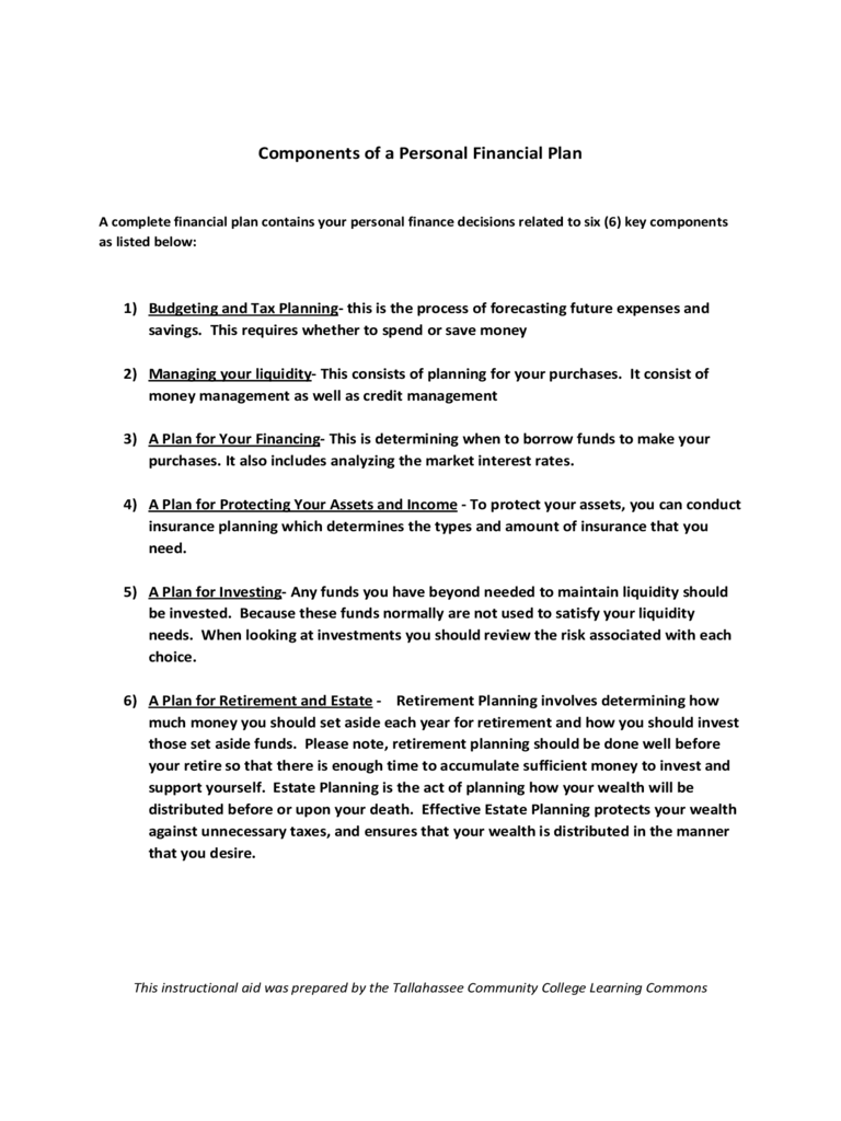 Financial Plan Template - 6 Free Templates in PDF, Word ...