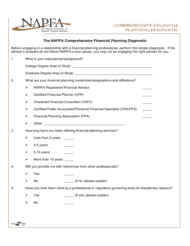 comprehensive financial planning free download