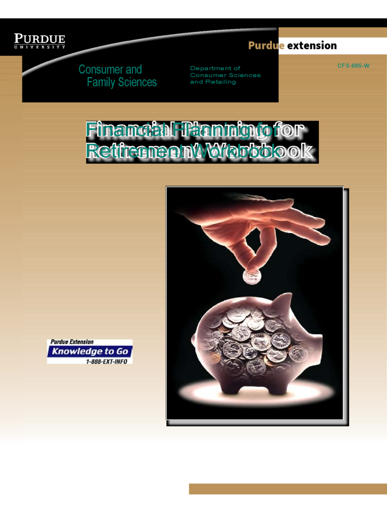 Financial Planning for Retirement Workbook