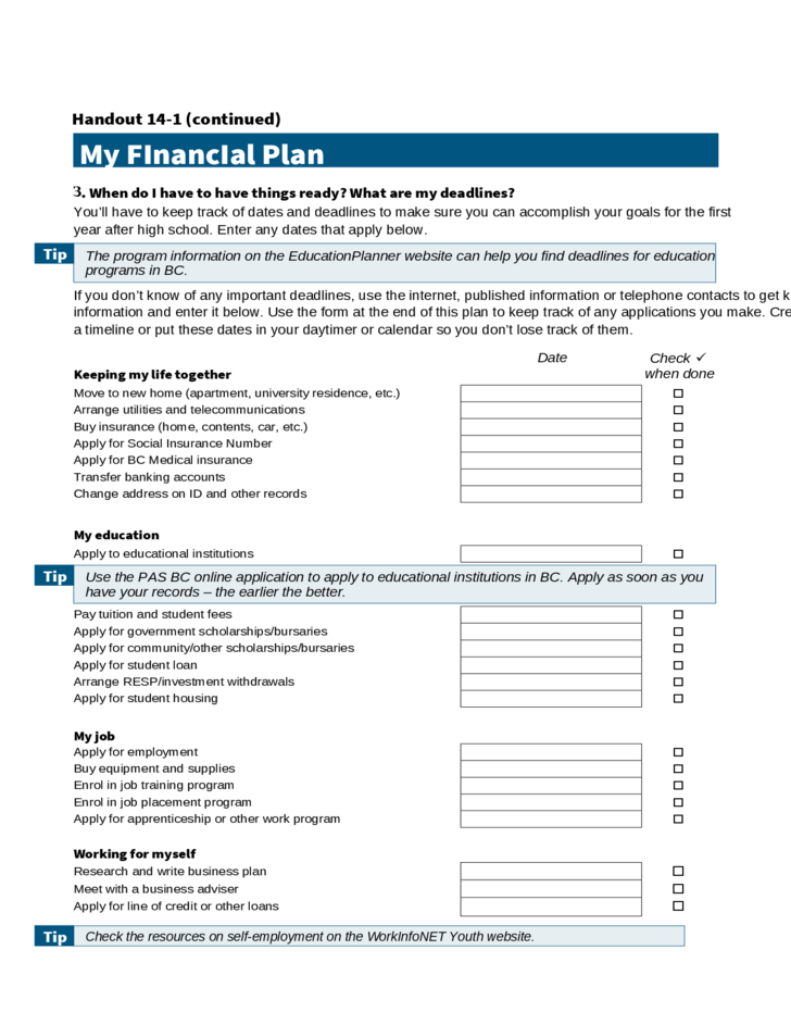 Personal Financial Plan Calculator