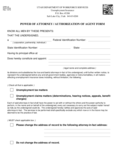 Power of Attorney or Authorization of Agent Form - Utah
