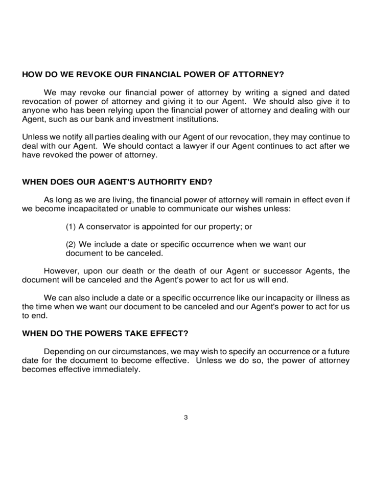 Statutory Financial Power of Attorney - Georgia Free Download