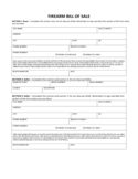 Firearm Bill of Sale Form - Maine Free Download