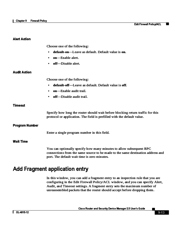 firewall template documenting