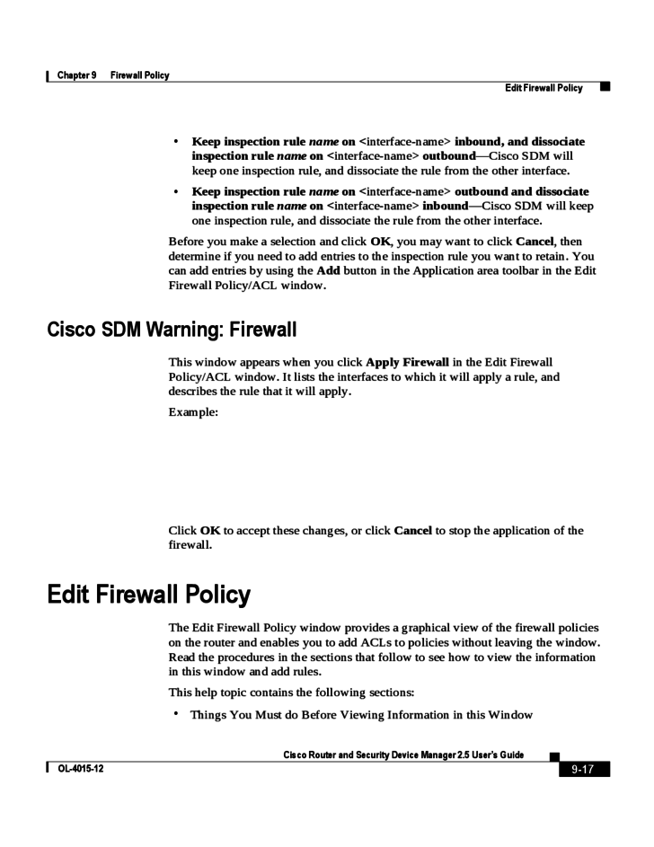17 firewall policy sample
