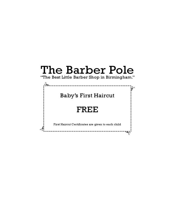 Baby 39 s first haircut certificate template free download for My first haircut certificate template