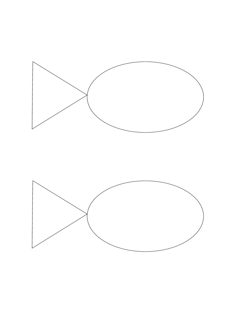 Word Fish Template