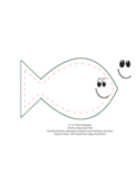 "6"" x 4"" Fish Template Free Download"