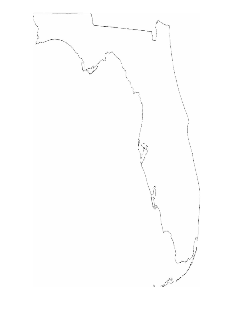Florida Map Template  Free Templates In PDF Word Excel Download - Florida map black and white
