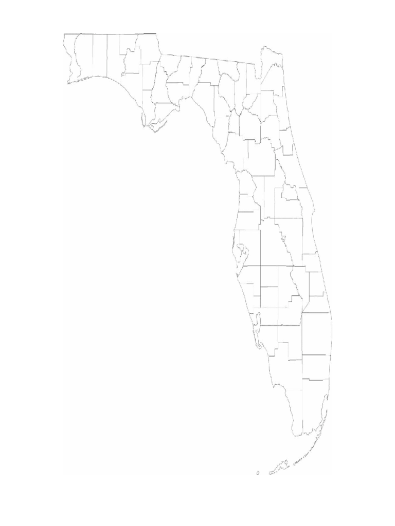 Blank Florida County Map