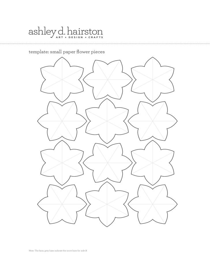 paper flower template free download