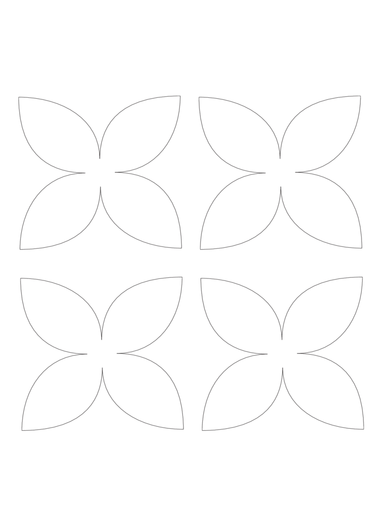 4 Petal Piece Flower Template