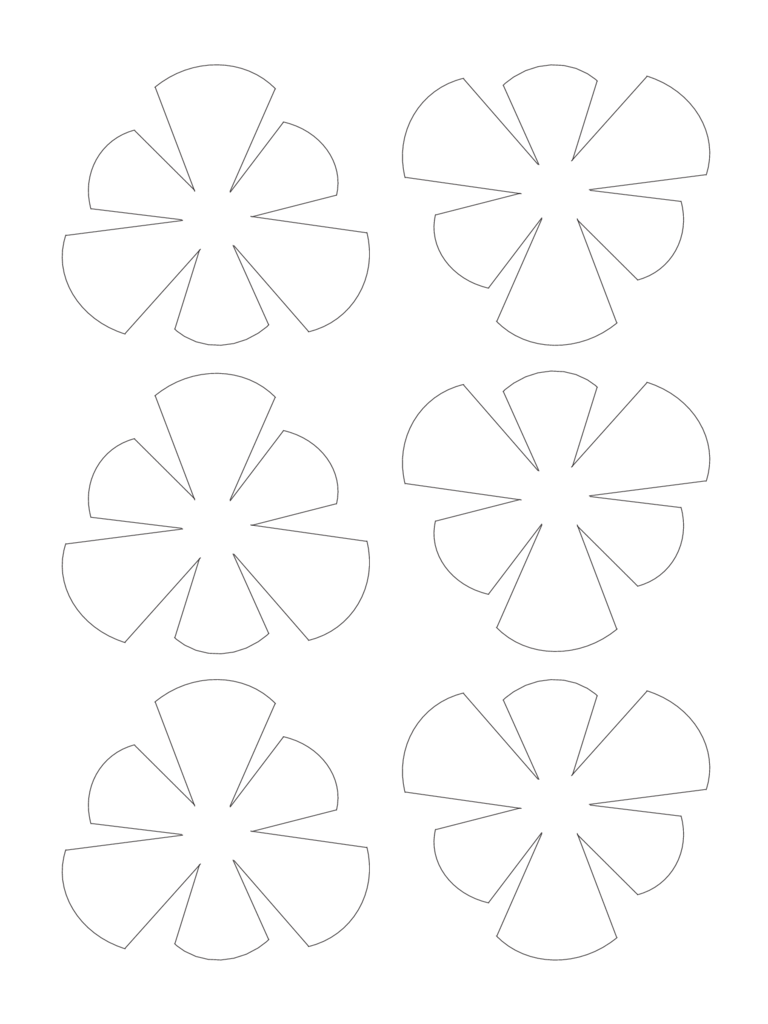 Flower Template Sample