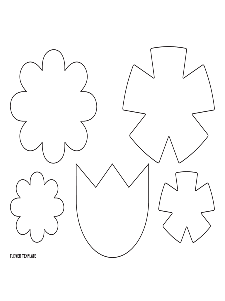 Sample of Flower Template