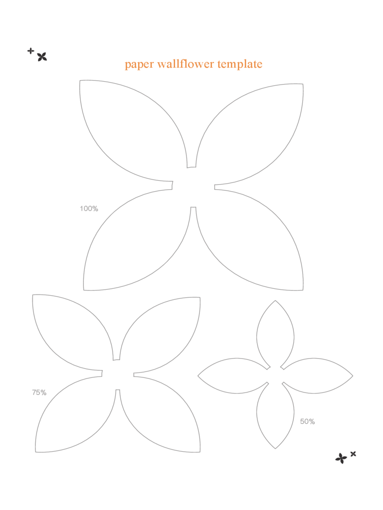 Paper Wallflower Template