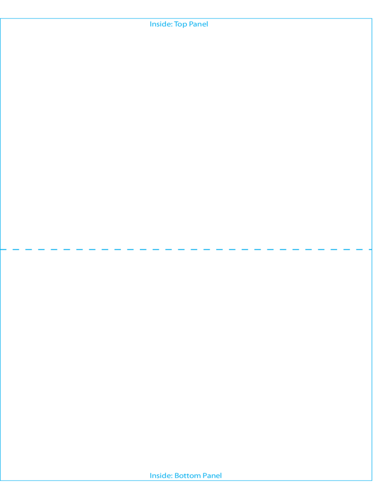 foldable card template word
