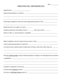 Food Evaluation Form - Boston Free Download