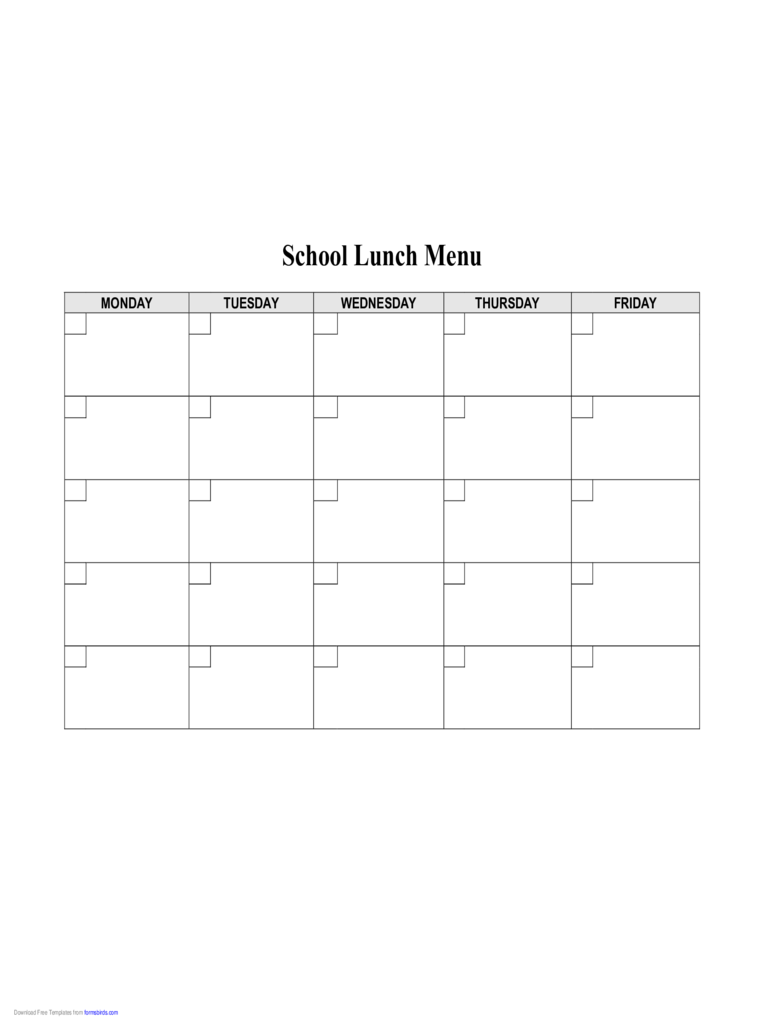 Food menu template 4 free templates in pdf word excel for Free school lunch menu templates