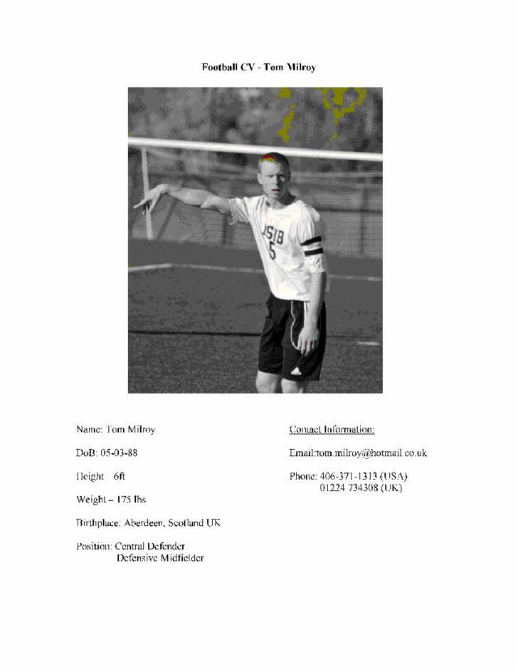 Football cv free download for Football cv templates free