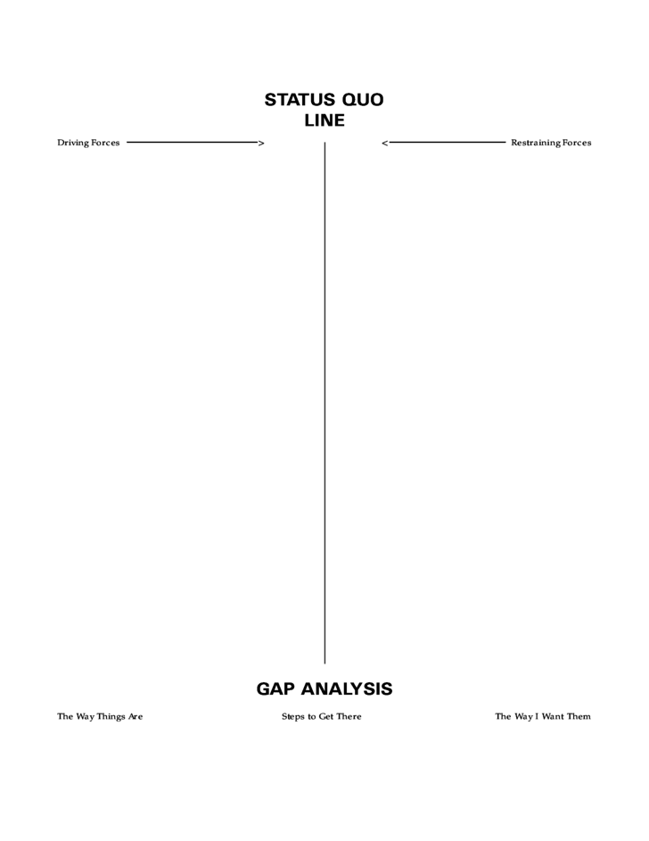 force field analysis diagram template - force field analysis free download