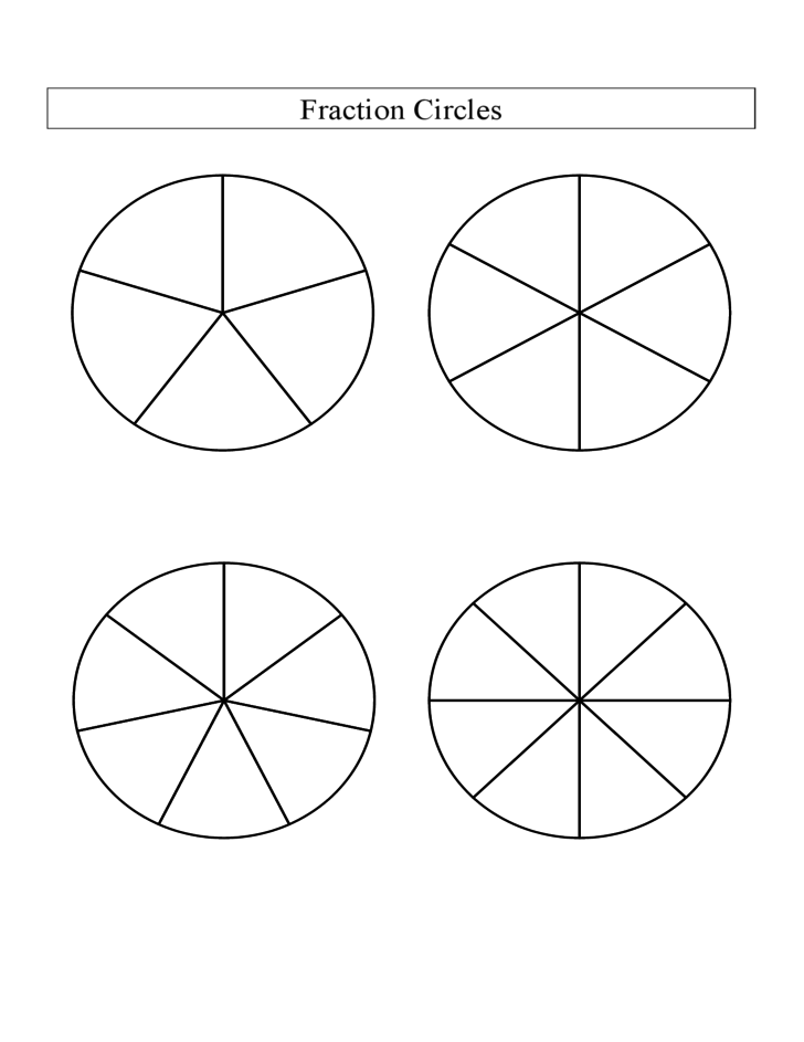 math worksheet : black and white fraction circles no labels large  b free download : Fraction Circle Worksheets