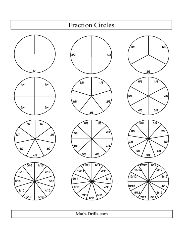 math worksheet : black and white fraction circles with labels small  f free download : Fraction Circle Worksheets