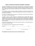 Sample Washington Franchise Agreement Addendum Free Download
