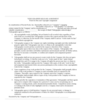 Freelance Videographers Agreement Free Download