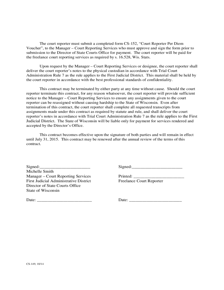 Contract For Freelance Court Reporting Services Free Download