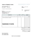 Freelance Coach Invoice Template Free Download