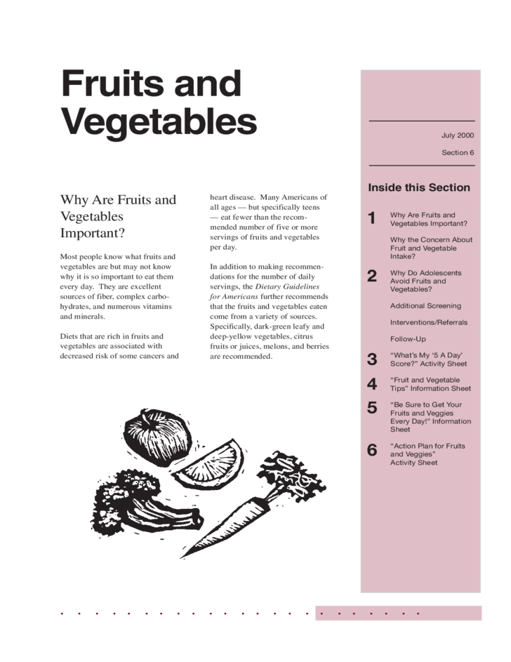 fruits and vegetables free download