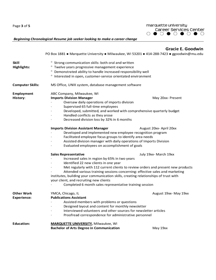 functional resumes for experienced professionals free