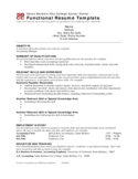 Functional Resume Template Sample Free Download