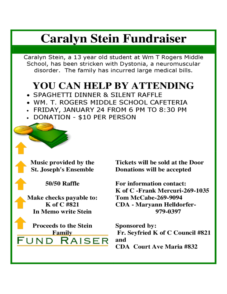 sample flyer for fundraiser free download