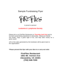 Sample Fundraising Flyer Template Free Download