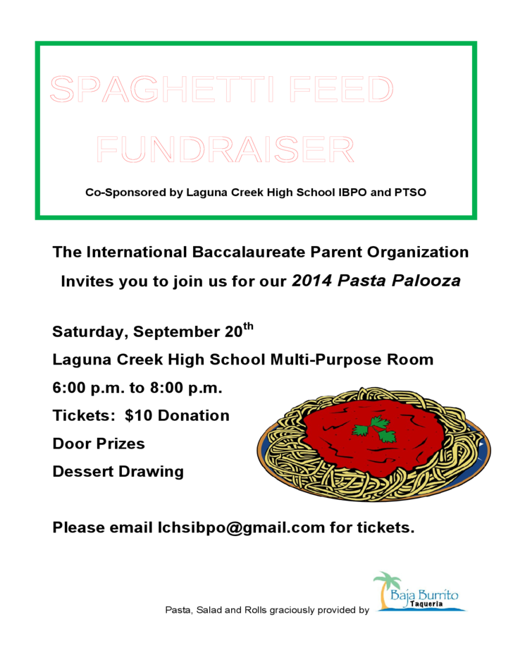 spaghetti feed fundraiser flyer free download