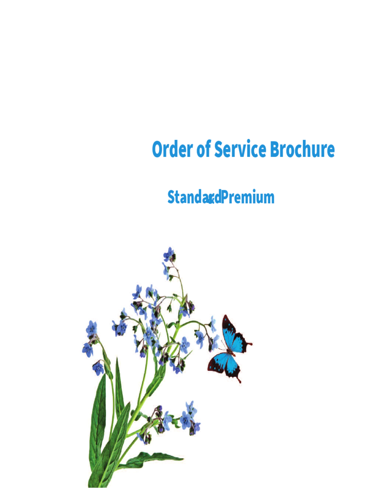 Order Of Service Brochure   In Memoriam Cards  Order Of Service Template Free