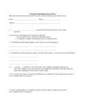 Personal Preplanning Funeral Form Free Download