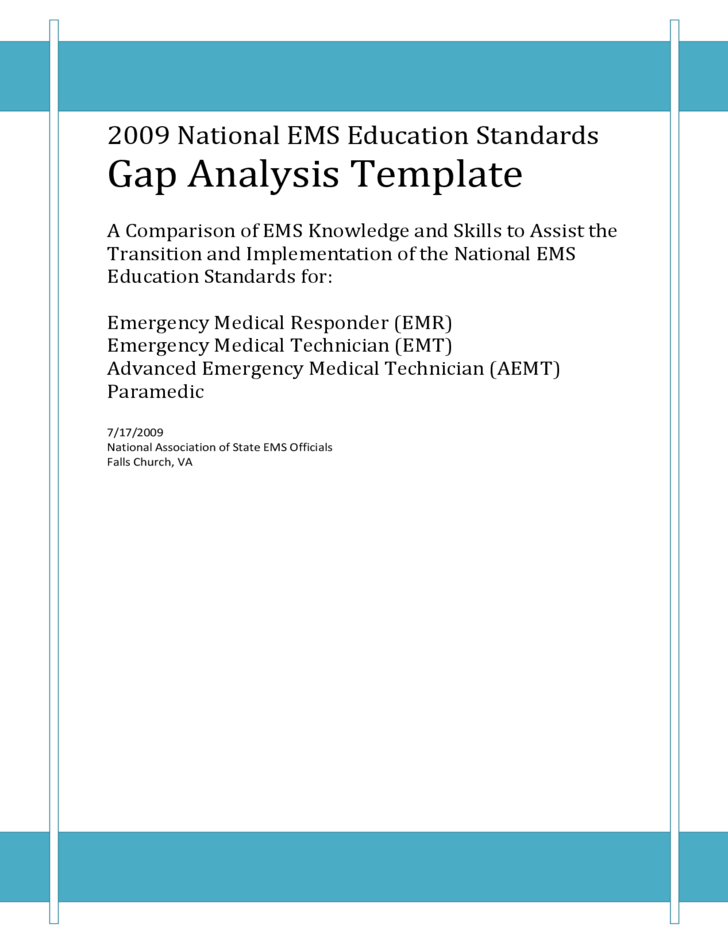 2009 national ems education standards gap analysis