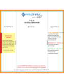 "9"" x 12"" Gate FoLd Brochure Template Free Download"