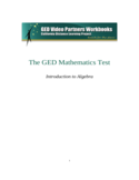 GED Mathematics Test Free Download